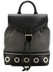 Alexander Mcqueen Eyelet Embellished Backpack Black