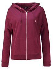 New Look Tracksuit Top Dark Red Bordeaux