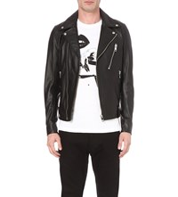 Diesel L Beck Leather Biker Jacket Black