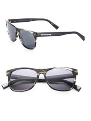 Ermenegildo Zegna Striped 54Mm Wayfarer Sunglasses Grey