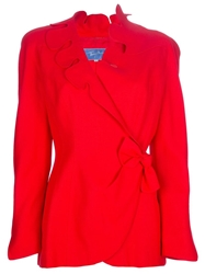 Thierry Mugler Vintage Scalloped Lapel Blazer Red