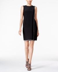 Betsy And Adam Bestsy Rhinestone Cocktail Dress Black