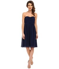 Donna Morgan Sarah Dress Short Rouched Dress Midnight Women's Dress Navy