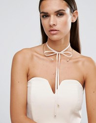 Johnny Loves Rosie Aria Gold And Blush Suede Choker Black