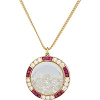 Renee Lewis Women's Diamond Ruby And Gold Shake Pendant Necklace No Color