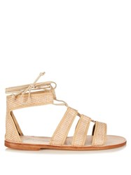 Prism Bora Bora Raffia Lace Up Sandals Multi