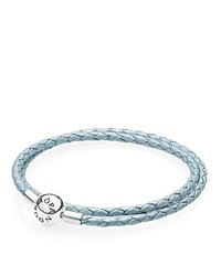 Pandora Design Pandora Light Blue Leather Double Wrap Bracelet