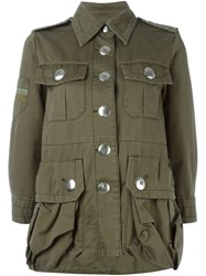 Marc By Marc Jacobs Belted Military Jacket Green