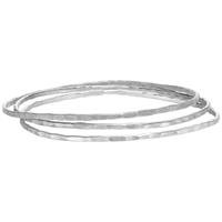 Dower And Hall Hammered Silver Trio Bangles Silver