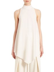 Proenza Schouler Sleeveless Hi Lo Swing Top Off White Black