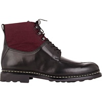 Leather And Canvas Ginko Boots Black