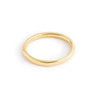 J.Crew 14K Gold 2Mm Rounded Band