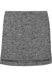 Rebecca Minkoff Nell Herringbone Wool Blend Mini Skirt