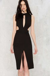 Nasty Gal Side By Side Cutout Midi Dress