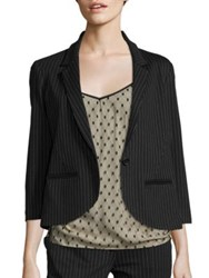 Abs By Allen Schwartz Pinstripe One Button Blazer Charcoal