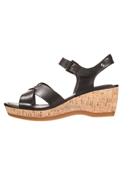 Hush Puppies Wedge Sandals Black