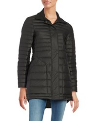 Hunter Water Resistant Quilted Down Coat Black