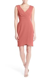 Women's Adrianna Papell Matte Jersey Faux Wrap Dress Salmon
