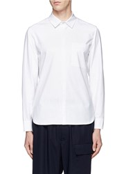 Tim Coppens Extended Jersey Back Cotton Poplin Shirt White