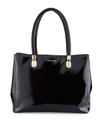 Cole Haan Benson Patent Leather Tote Bag Black