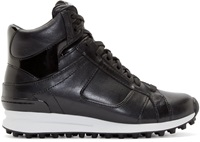 3.1 Phillip Lim Black Trance High Top Sneakers