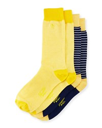 Penguin Arnason Striped Two Pack Sock Set Yellow Multi