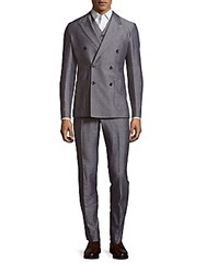Dolce And Gabbana Three Piece Pinstripe Jacket Vest Pants Set