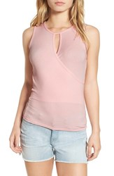 Soprano Women's Surplice Tank Blush