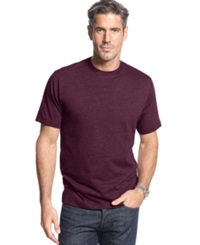 John Ashford Short Sleeve Crew Neck Solid T Shirt Red Plum