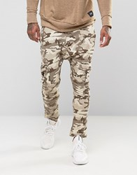 Sixth June Skinny Camo Cargo Joggers Brown