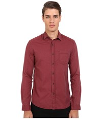 Mavi Jeans Button Down Shirt Burnt Red Men's Long Sleeve Button Up
