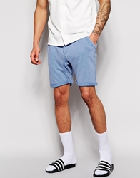 Solid Jersey Shorts Blue