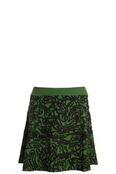 Opening Ceremony Cabbage Flare Skirt Green