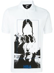 Hood By Air Picture Print Polo Shirt White