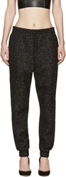 Alexander Wang Black Speckled Wool Lounge Pants
