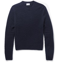 Acne Studios Peele Boiled Wool And Cashmere Blend Sweater Blue