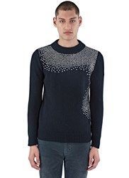 Saint Laurent Nashville Studded Sweater Black
