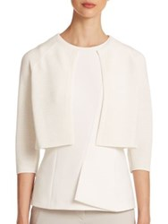 Boss Faria Knit Bolero Sweater White