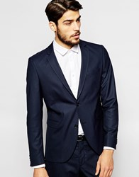 Jack And Jones Jack And Jones Premium Suit Jacket With Stretch In Slim Fit Blue