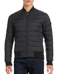 Superdry Quilted Puffer Jacket Black