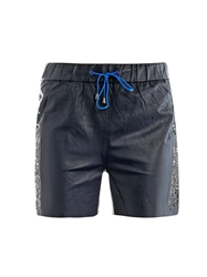 Jonathan Simkhai Laser Cut Leather Board Shorts