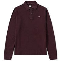C.P. Company Long Sleeve Pique Polo Burgundy