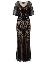 Phase Eight Collection 8 Marseilles Tapework Dress Black Nude