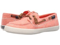 Sperry Sayel Away Hemp Canvas Coral Women's Moccasin Shoes
