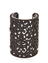 Rafida Bijoux Elisir Collection Cuff Bracelet Black Silver