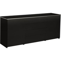 Buy Hygena Aurora 2 Door 4 Drawer Sideboard Black Gloss At Argos.Co.Uk Your Online Shop For Sideboards And Chest Of Drawers.