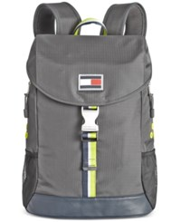 Tommy Hilfiger Men's Ripstop Nylon Backpack Anthracite