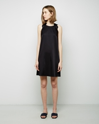 3.1 Phillip Lim Embroidered Ric Rac A Line Dress Black