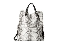 Jessica Simpson Hanne Fold Over Crossbody Black White Python Cross Body Handbags Metallic