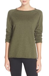 Fjall Raven Women's Fj Llr Ven 'Vik' Cotton And Wool Pullover Green